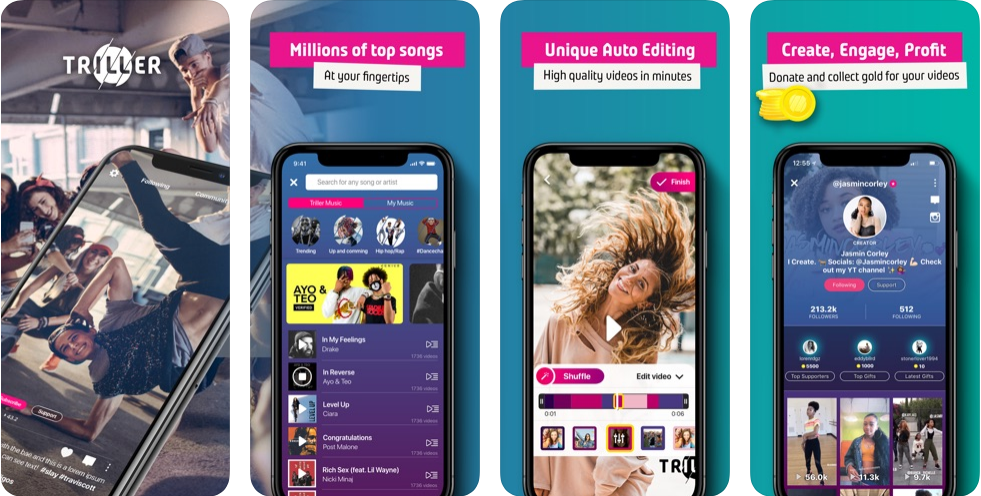Triller music video app